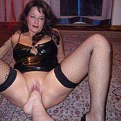 Indecent old hooker acquires a leg inside her twat.
